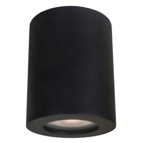 Downlight Lampa Sufitowa Fausto It8005r1 Bk Metalowa Oprawa Minimalistyczna Tuba Do łazienki Ip44 Czarna Italux