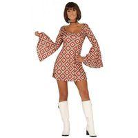 Strój na karnawał dla kobiety Szalone Lata 70-te - sukienka