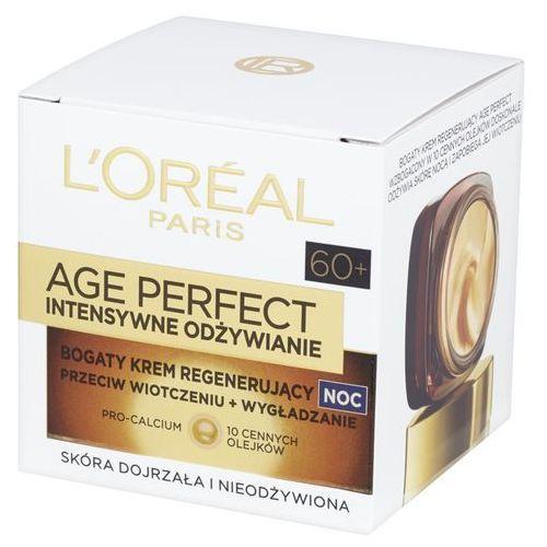 L'Oreal Paris Age Perfect Intensywne Odżywianie 60+, 50 ml. Bogaty krem regenerujący na noc - L'oreal Paris