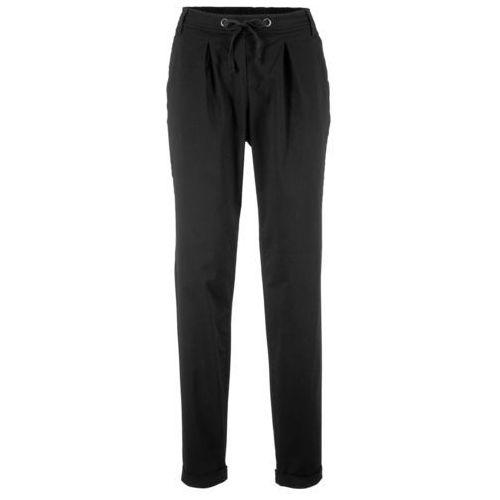 Spodnie chino z wpuszczanymi kieszeniami bonprix czarny, chinosy