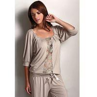 Damska bambusowa piżama SERENA Beżowy L