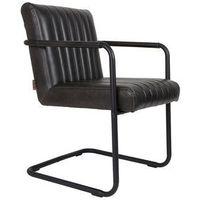 fotel stitched czarny 1200118 marki Dutchbone