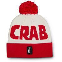 czapka zimowa CRAB GRAB - Pom Beanie Red White (RED)