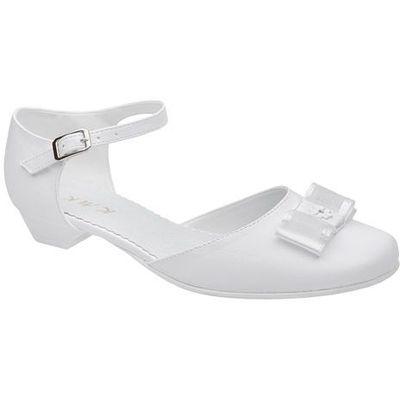 046b5004 Kmk Pantofelki buty komunijne dla dziewczynki 226 h białe - biały  NeptunObuwie.pl