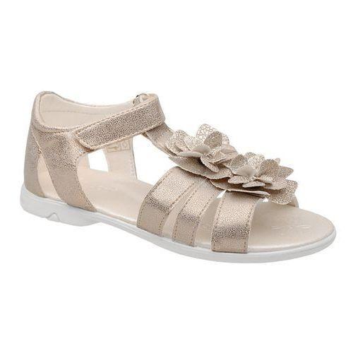Sandałki dla dziewczynki 4967 złote brokat - złoty marki Kornecki