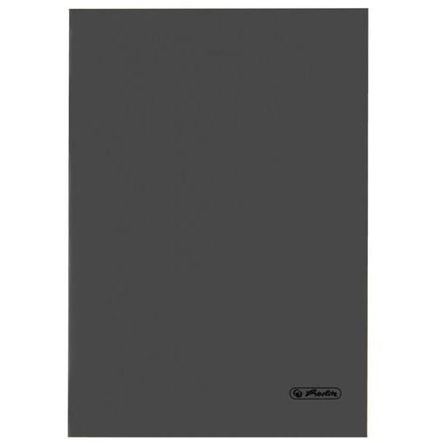 Zeszyt B5 60k kratkę okładka folii PP HERLITZ - ciemno-szary
