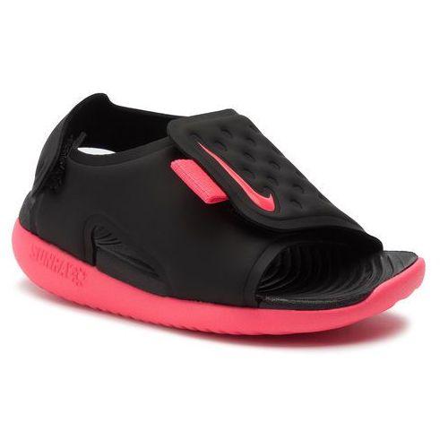 Sandały NIKE - Sunray Adjust 5 (TD) AJ9077 002 Black/Racer Pink/White, kolor czarny