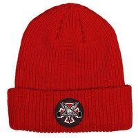 czapka zimowa INDEPENDENT - Thrasher Pentagram Cross Beanie Long Shoreman Hat Lipstick (101200)