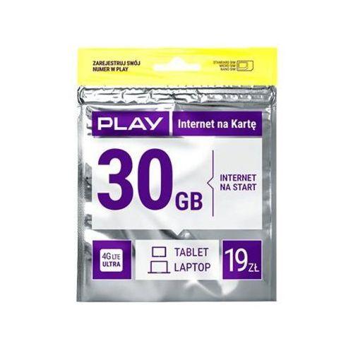 Starter PLAY Internet na Kartę 30GB 19 PLN