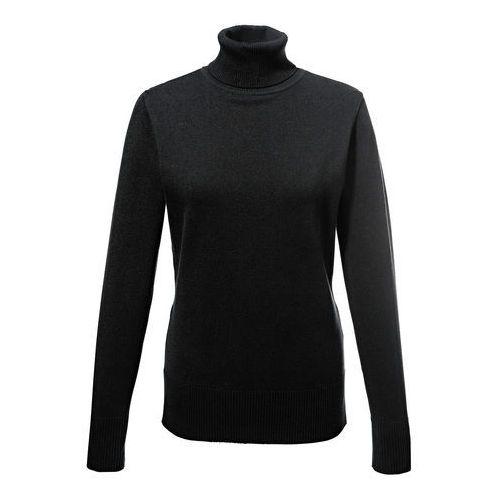 Sweter z golfem bonprix czarny, bawełna