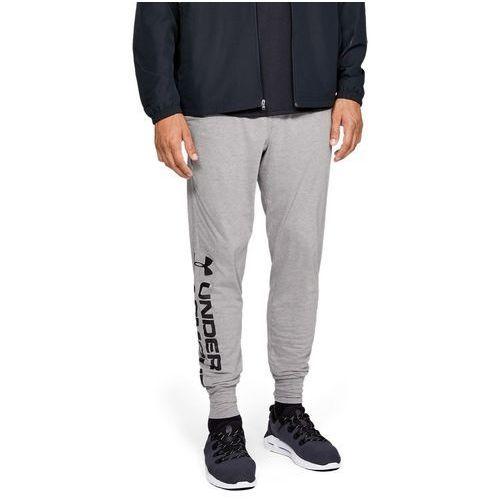 spodnie dresowe sportowe sportstyle cotton graphic jogger szare marki Under armour