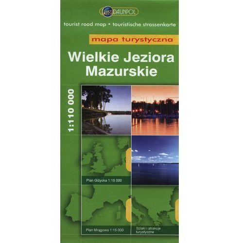 Wielkie Jeziora Mazurskie. Mapa turystyczna w skali 1:110 000 (9788374756822)