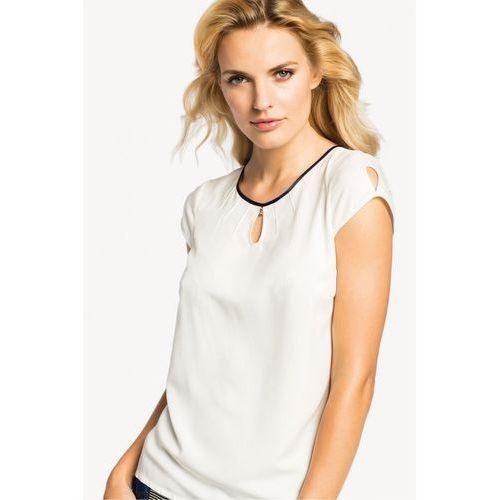Biała bluzka z jedwabiem - Potis & verso