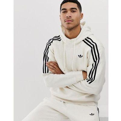 4db20f9d6 hoodie with trefoil logo print 3 stripes in beige fh6885 - beige, Adidas  originals, XS-XL ASOS
