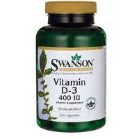 Tabletki SWANSON Witamina D-3 400IU, 250 tabl
