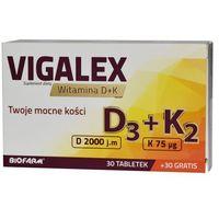 Tabletki Vigalex D3 + K2, 30 tabletek + 30 tabletek Gratis - Długi termin ważności! DARMOWA DOSTAWA od 39,99zł do 2kg!