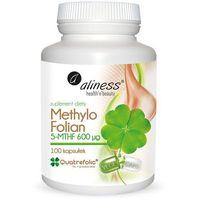 Methylo Folian 5-mthf 600 μg 100 kapsułek - kwas foliowy – Aliness