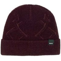 czapka zimowa BENCH - Fishermans Interest Rib Beanie Dark Burgundy (BU017)
