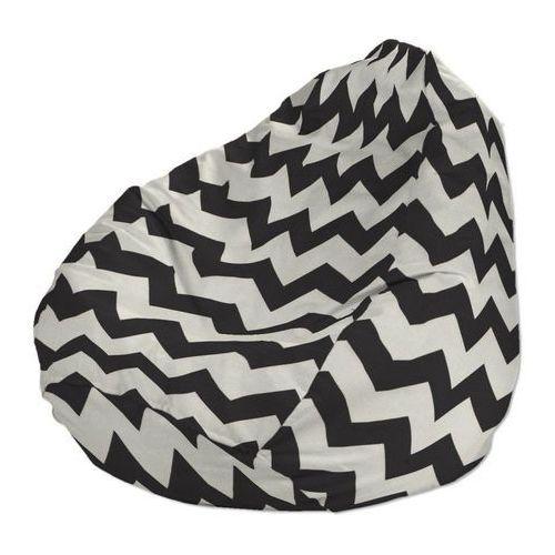 pokrowiec na worek do siedzenia, czarno-białe zygzaki, pokrowiec Ø50 × 85 cm, comics marki Dekoria