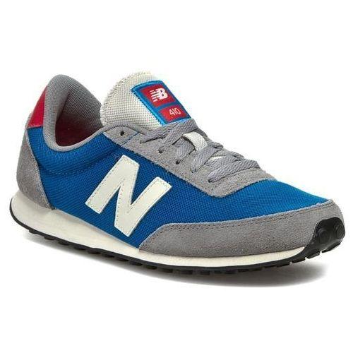 Sneakersy - u410hgb niebieski szary marki New balance
