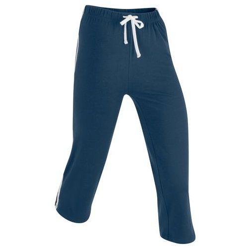 Rybaczki sportowe ze stretchem, dł. 3/4 ciemnoniebieski marki Bonprix