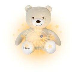 miś z projektorem lampka pozytywka beżowy marki Chicco