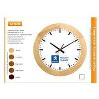 Zegar reklamowy drewniany solid /300mm, ATW300