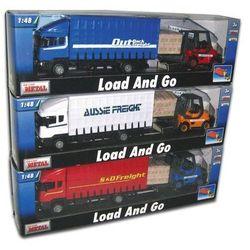 Samochód ciężarowy scania i wózek widłowy 1:48 marki Teama