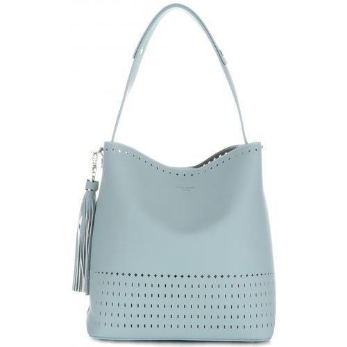 aab5d61c3ed71 Uniwersalne ażurowe torebki damskie z kosmetyczką firmy błękitne (kolory)  marki David jones