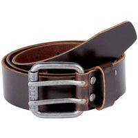 pasek BENCH - Double Prong Leather Belt Dark Brown (BR052)