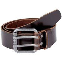 pasek BENCH - Double Prong Leather Belt Dark Brown (BR052) rozmiar: S/M