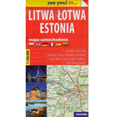 Praca zbiorowa. Litwa, Łotwa, Estonia. Mapa samochodowa 1:700 000 (papierowa) (2016)