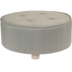 Home styling collection Pufa bawełniana, siedzisko, podnóżek, beżowy - 52 x 22 cm
