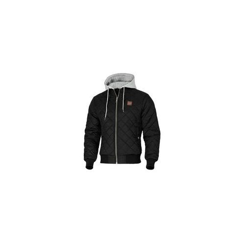 Kurtka z kapturem Pit Bull Atwater Black / Grey Melange (527102.9015), kolor czarny