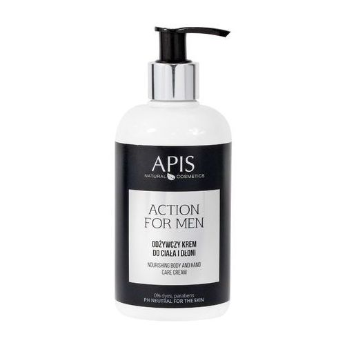 APIS Action for Men - Odżywczy krem do ciała i dłoni 300ml