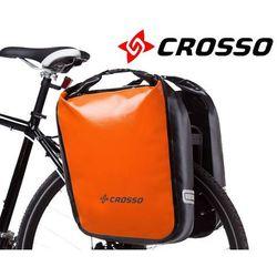 Crosso Co1009.60.84 sakwy rowerowe dry big 60l pomarańczowe zestaw na tył