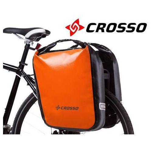 CO1009.60.84 Sakwy rowerowe Crosso DRY BIG 60l Pomarańczowe zestaw na tył