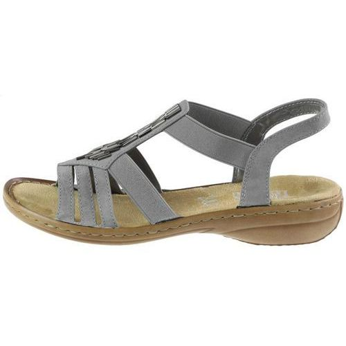 Rieker Sandały 60800 - szare
