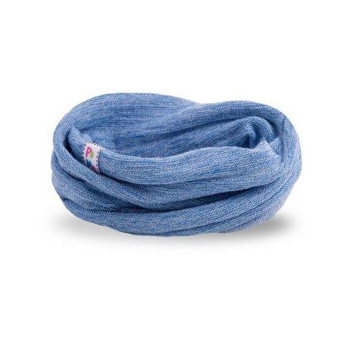 Wiosenny komin dziewczęcy - jasnoniebieski - jasnoniebieski marki Pamami