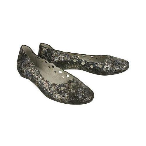 MACIEJKA 01299-20/00-5 czarny srebro, baleriny damskie, kolor czarny