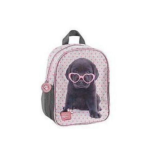 87d9c554edf2d Zobacz ofertę Plecak przedszkolny Studio Pets szary w różowe serduszka