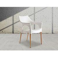 Beliani Krzesło - naturalny biały - natural ola