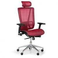 Krzesło biurowe Lester M, czerwony