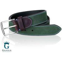 Zielony zamszowy pasek do spodni Miguel Bellido 576-38-1906-12-007