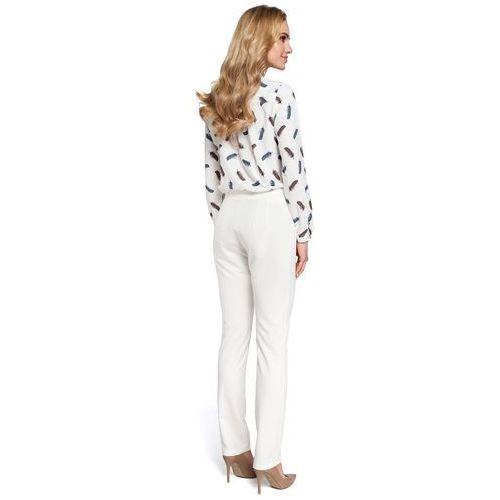 a9df71bdcf ... Eleganckie spodnie damskie cygaretki ecru M303 - Foto produktu ...