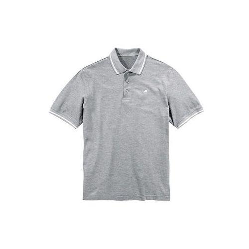 Bonprix Shirt polo jasnoszary melanż