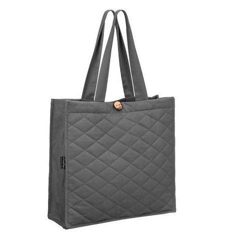 Healthy Plan by Ann - Pikowana torba na zakupy szara wymiary: 38 x 40 x 15 cm