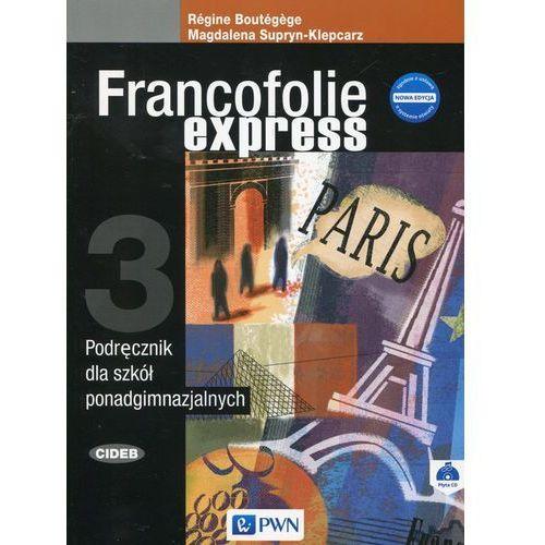 Francofolie express 3 Podręcznik + CD - Magdalena Supryn-Klepcarz, Boutegege Regine, oprawa miękka