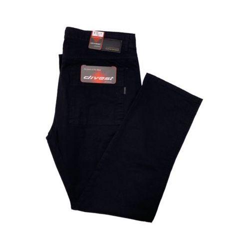 Divest spodnie bojówki czarne Model 200 134/33 Czarny Bawełna / Lycra, kolor czarny