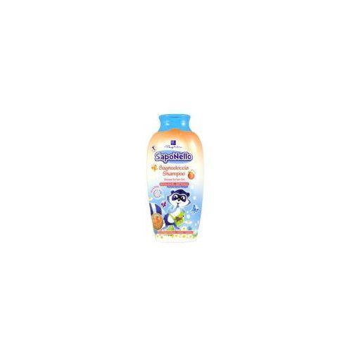 Saponello - płyn do kąpieli i szampon dla dzieci 2w1 - brzoskwinia (400 ml)